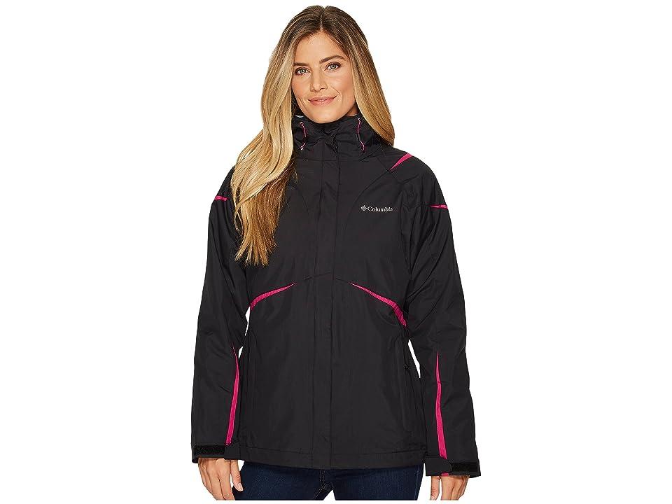 Columbia Blazing Star Interchange Jacket (Black/Deep Blush) Women
