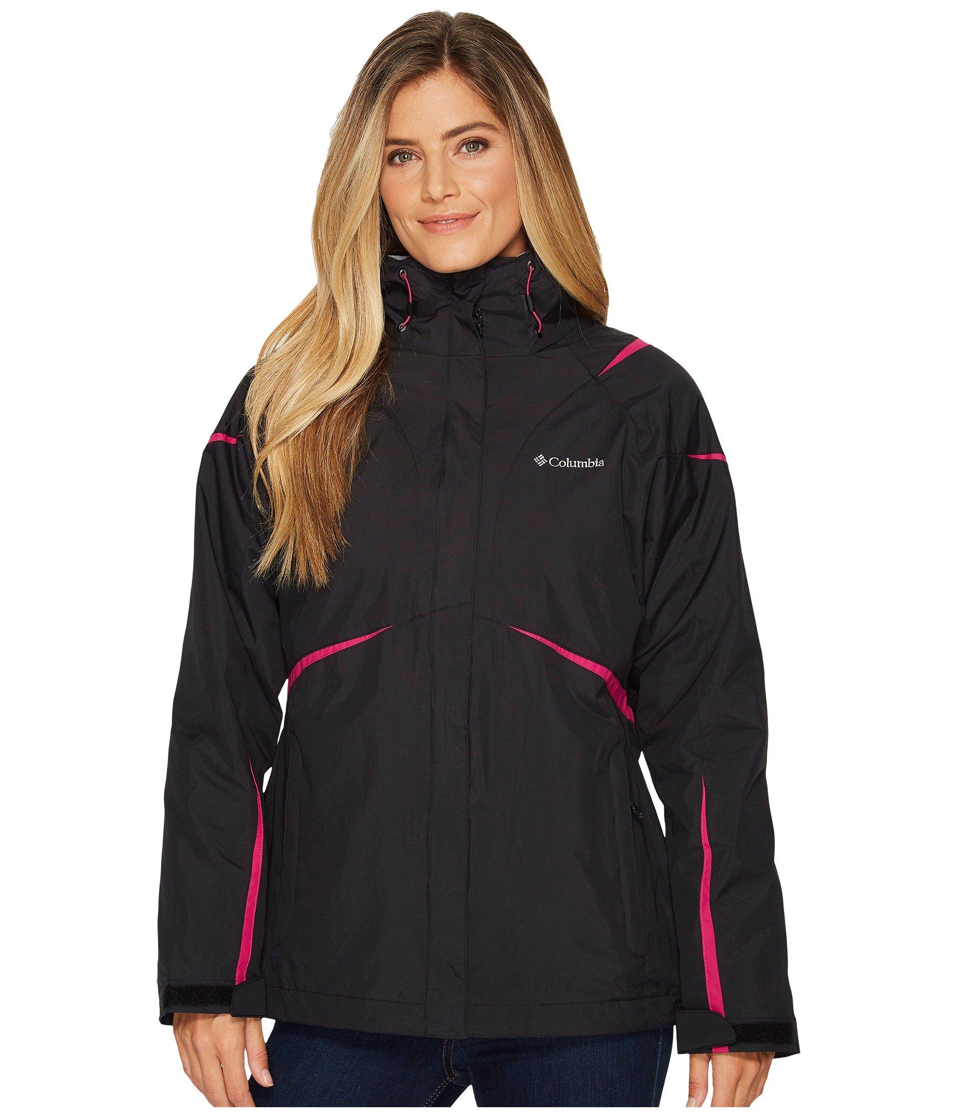 COLUMBIA Blazing Star Interchange Jacket, Black/Deep Blush