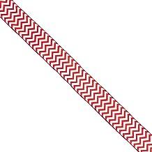 """Morex Ribbon Peppermint Chevron Ribbon, 2.5"""" x 50 Yd, Red/White"""