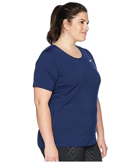 Fashionable Online Nike Pro Mesh Short Sleeve Top (Size 1X-3X) Binary Blue/White Free Shipping Countdown Package Buy Cheap Footlocker Finishline VSxGpAnK1
