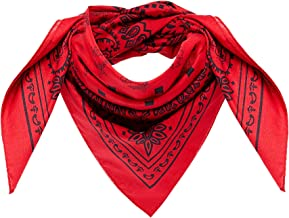MCM Women's Project (RED) Cotton Bandana Logo Scarf, Ruby, ONE SIZE
