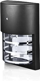 Hyperikon LED Porch Sconce Light, 6W, Modern Outdoor Wall Lamp, 4000K Daylight, Black, Photocell
