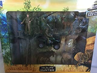 New Ray Wildlife Hunter Playset - Deer and Moose with Tree Stand and 4-wheeler