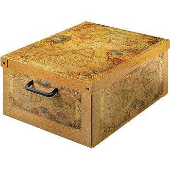 Kanguru Caja de Almacenamiento en cartòn Lavatelli, Modelo Marco Polo, Media 32x42x21cm