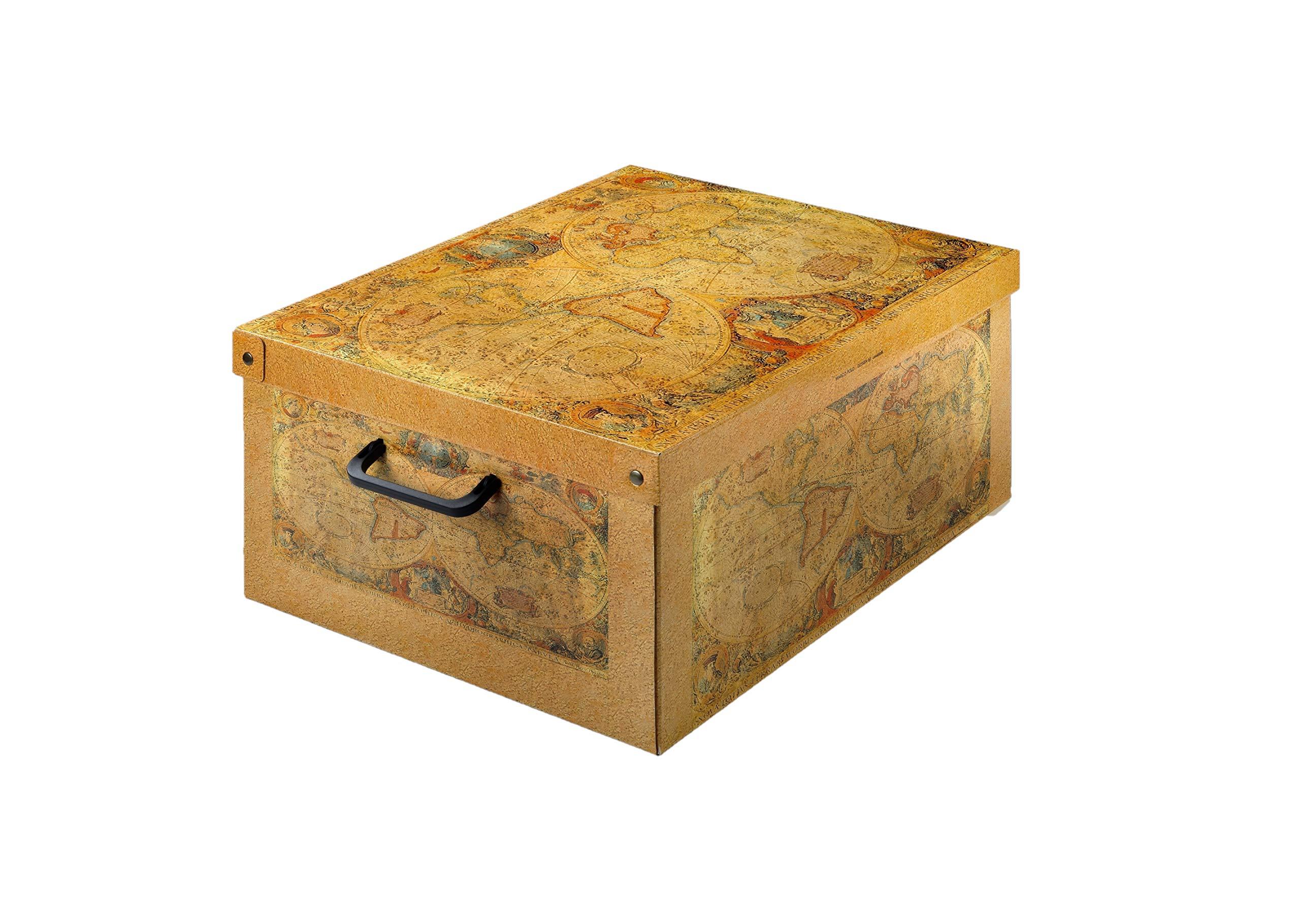 Kanguru Caja de Almacenamiento en cartòn Lavatelli, Modelo Marco Polo, Media 32x42x21cm: Amazon.es: Hogar