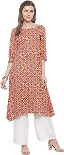Sera Women's Ethnic Wear Printed kurta with Palazzo Round Neck/Three-Quarter Sleeves Knee Length Kurta