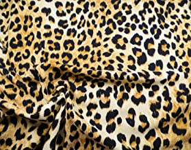 Printed Liverpool Textured Fabric 4 Way Stretch Scuba Cheetah Taupe Brown K707