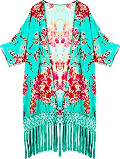 Women's Tassel Kimono Beach Cover Up