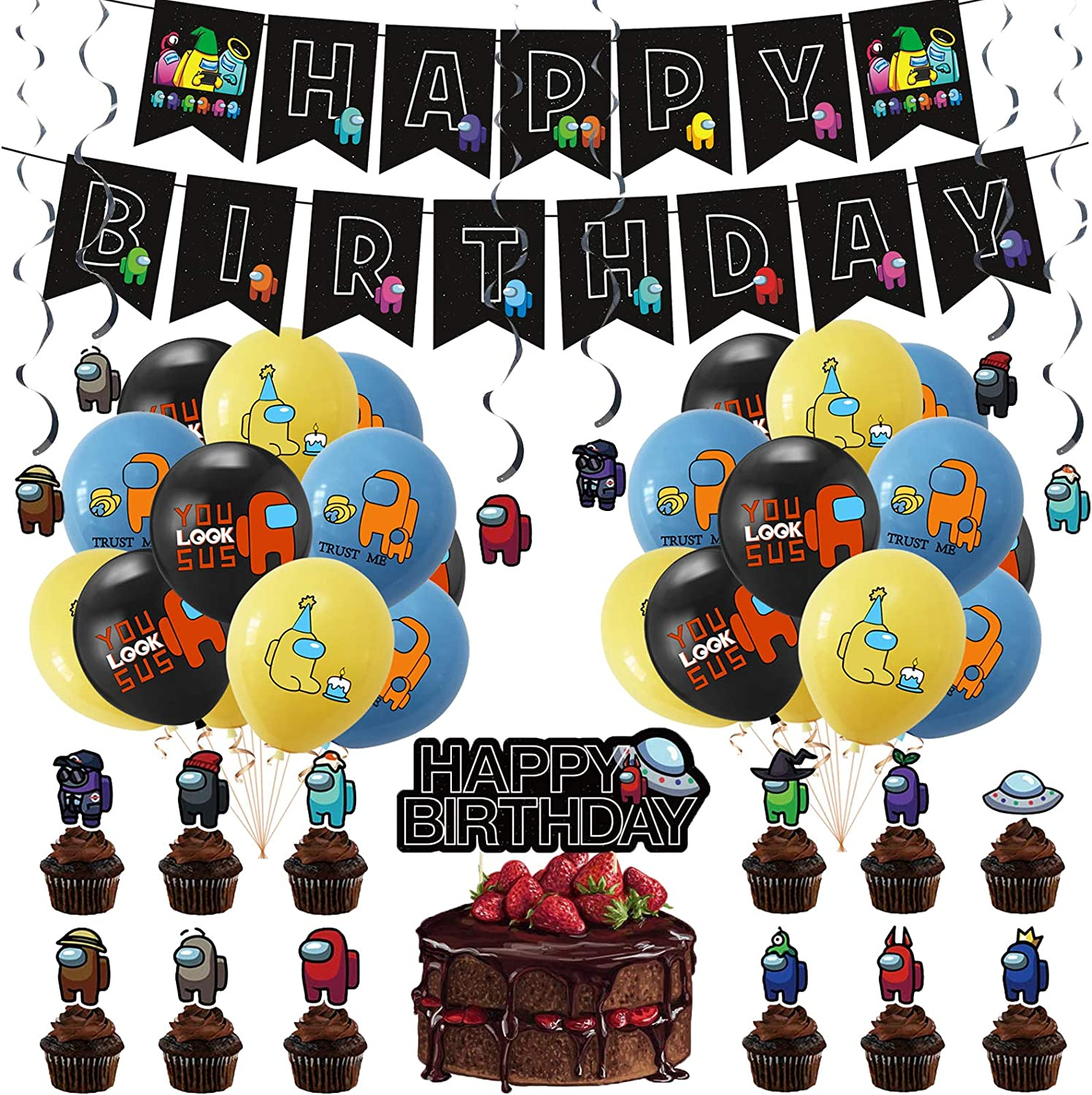 Among Us sold out Industry No. 1 Party Supplies Kids Birt Decoration for