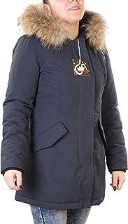 Antony Morale Giubbotto Parka Donna Invernale Colori (Rosso, Nero, Blu, Ghiaccio) con Pelliccia Vera Volpe Removibile 4 Co...