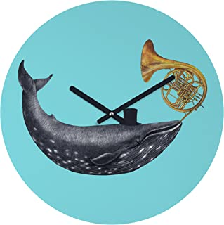 """Deny Designs Terry Fan, Song of The Sea, Round Clock, Round, 12"""""""