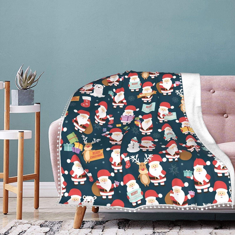 Cartoon Santas Blanket Pompom Conditioning Japan Maker New Fringe Fresno Mall Air Bl
