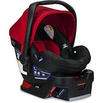 Britax B-Safe 35 Infant Car Seat - Rear Facing | 4 to 35 Pounds - Reclinable Base, 1 Layer Impact Protection, Cardinal