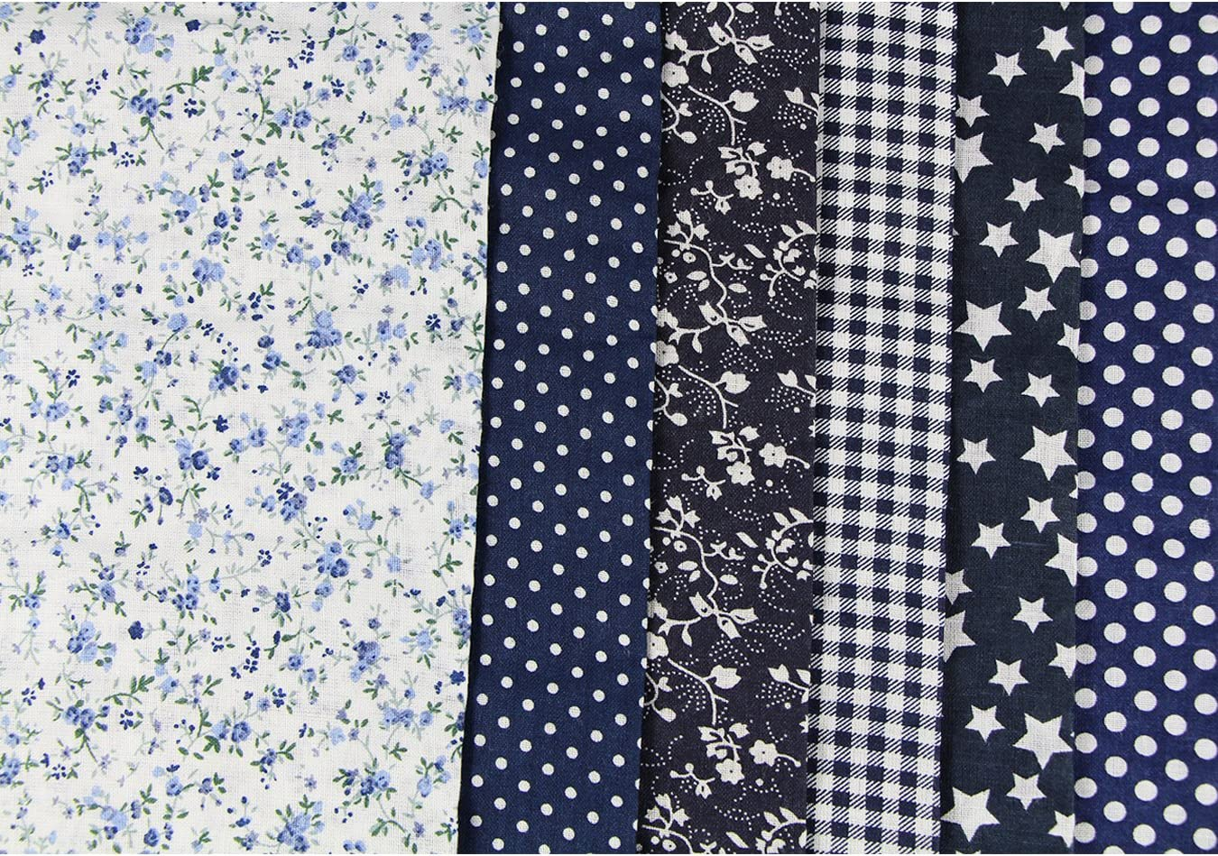 6pcs 50 x 50cm Patchwork Cotton Fabric DIY Handmade Sewing Quilting Fabric Different Designs