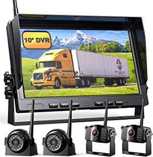 """$519 » 1080P Wireless Backup Camera w/ Built-in Recorder 10"""" FHD Monitor, Front Rear Side View Reversing Camera + Extra Stable Si..."""