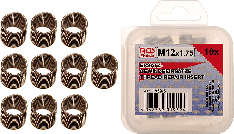 BGS 9430-1 M14 x 1,5 mm 10-tlg. Ersatz-Gewindeeins/ätze