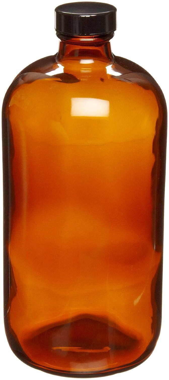 Wheaton 220956 Safety Coated Bottle Boston Amber 2021 model Round Style Many popular brands G