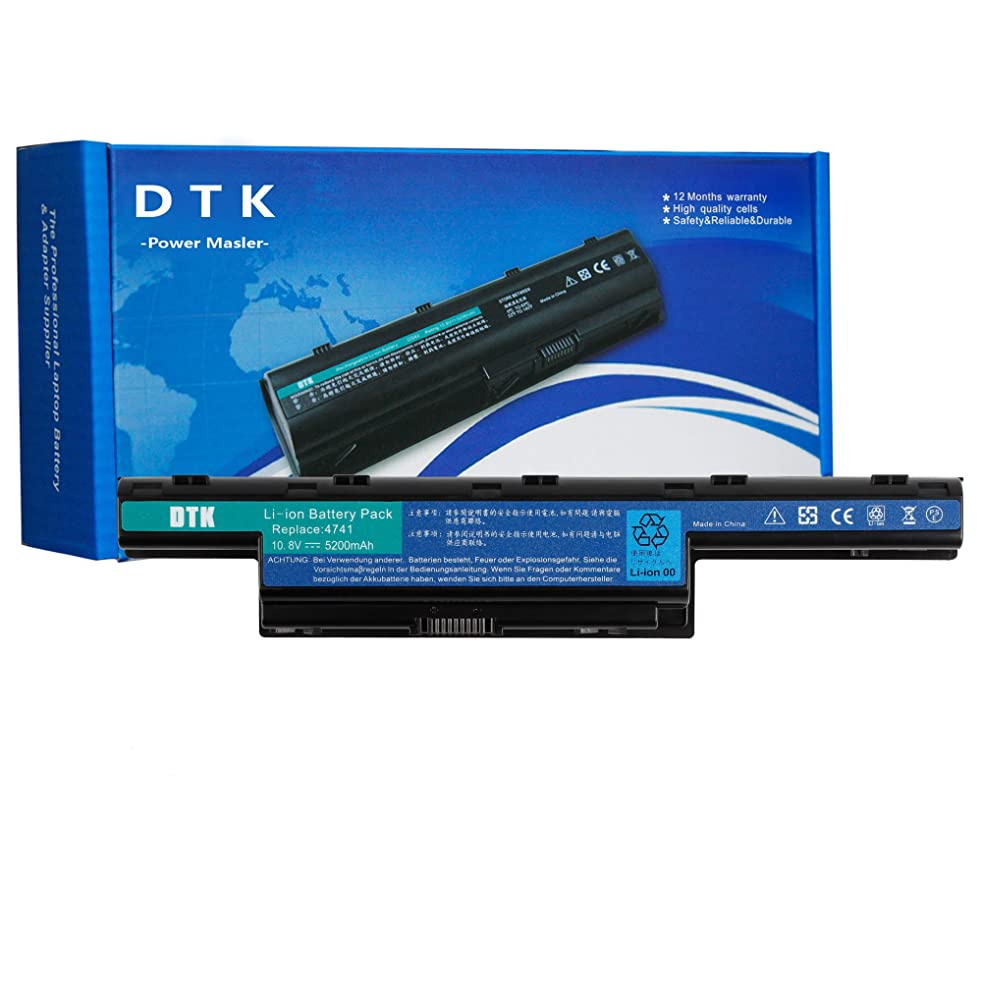 DTK AS10D31 AS10D51 Laptop Battery for ACER Aspire 4250 4333 4551 4741 4743 5250 5253 5336 5552 5733 5741 5742 5750 5755 TravelMate 5735 5740 5742 Gateway NV50A NV53A NV55C NV59C 10.8V 5200mAh