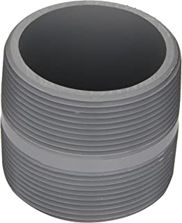 Spears 88-C Series CPVC Pipe Fitting, Nipple, Schedule 80, Gray, 1-1/2