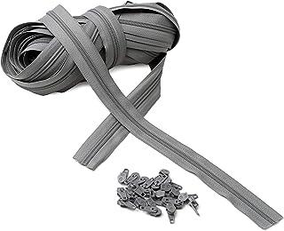 IPEA Fermeture éclair Lampo Taille 5# Chaîne continue - 10 mètres - Corde en nylon + 25 curseurs inclus - Zip - Coupe-cout...