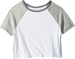 Short Sleeve Color Block Tee with Side Stripe (Big Kids)