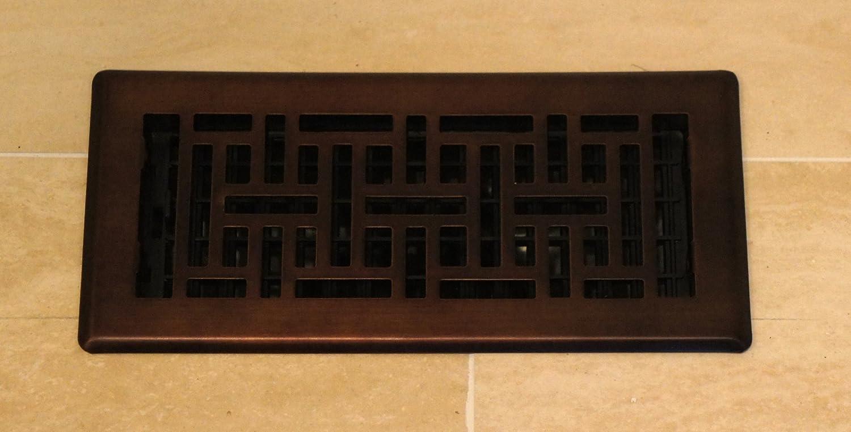 2x12 Chrome Decor Grates AJH212-C Oriental Floor Register