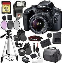 $334 » Canon EOS Rebel 4000D Digital SLR Camera with EF-S 18-55mm f/3.5-5.6 DC III Lens Kit (Rebel T100) Pro Accessory Bundle Package Deal : 32gb SD Card + DSLR Bag + 57'' Tripod + More - International Model