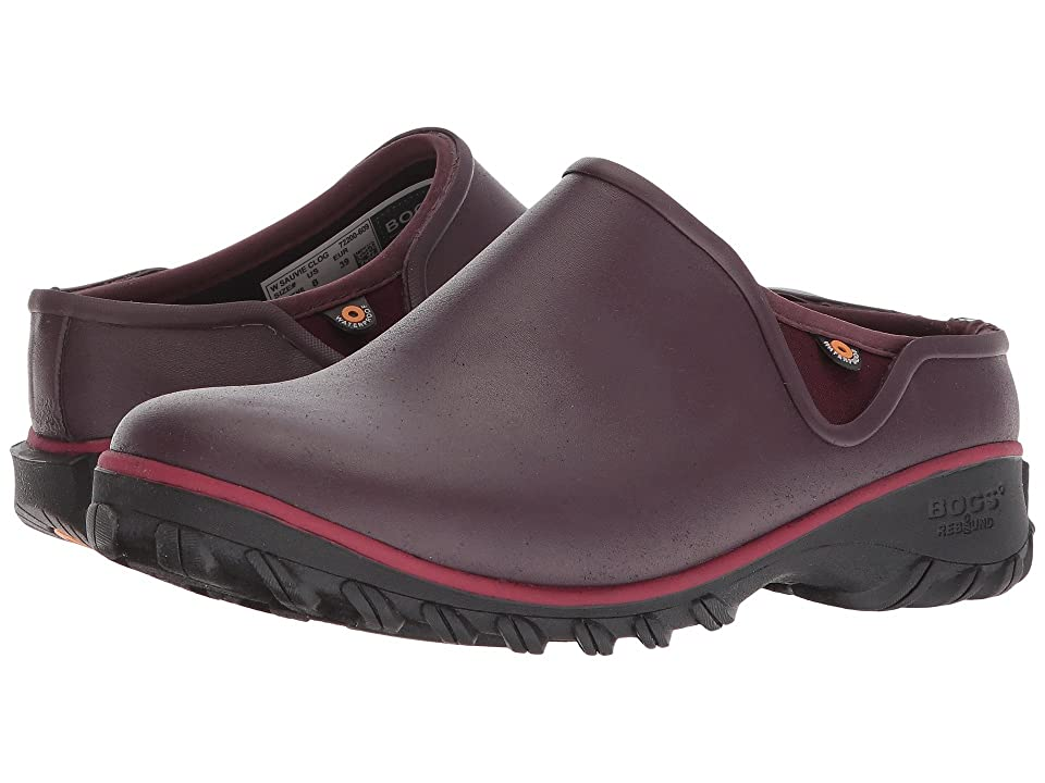 Bogs Sauvie Solid Clog (Wine) Women