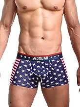 Evankin Men's Underwear,Soft Boxer Briefs American Flag Sexy Underwear