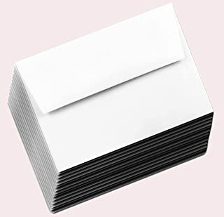 Bright White A6 70lb 100 Envelopes (4-3/4 x 6-1/2) for 4-1/2 x 6-1/4 Thank You Cards, Enclosures Gift Tags Showers Wedding...