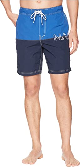 Nautica - Logo Color Block Swim Trunk