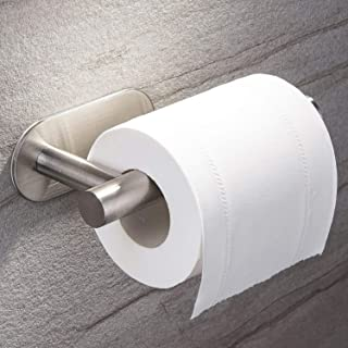 ZUNTO Self Adhesive Toilet Paper Holder - Stainless Steel Toilet Paper Roll Holder Stick on Wall TP Holder for Bathroom,Bedroom and Rv