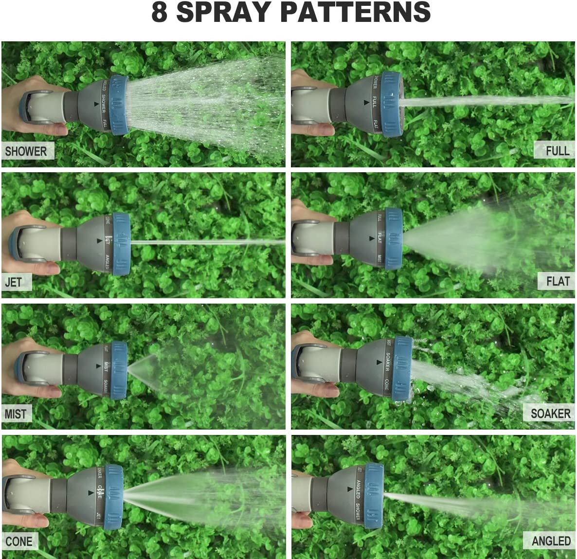 style in 1 pattern: This high pressure garden hose nozzle water spray
