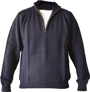 Men's Handmade 100% Alpaca Wool Half Zip Sweater