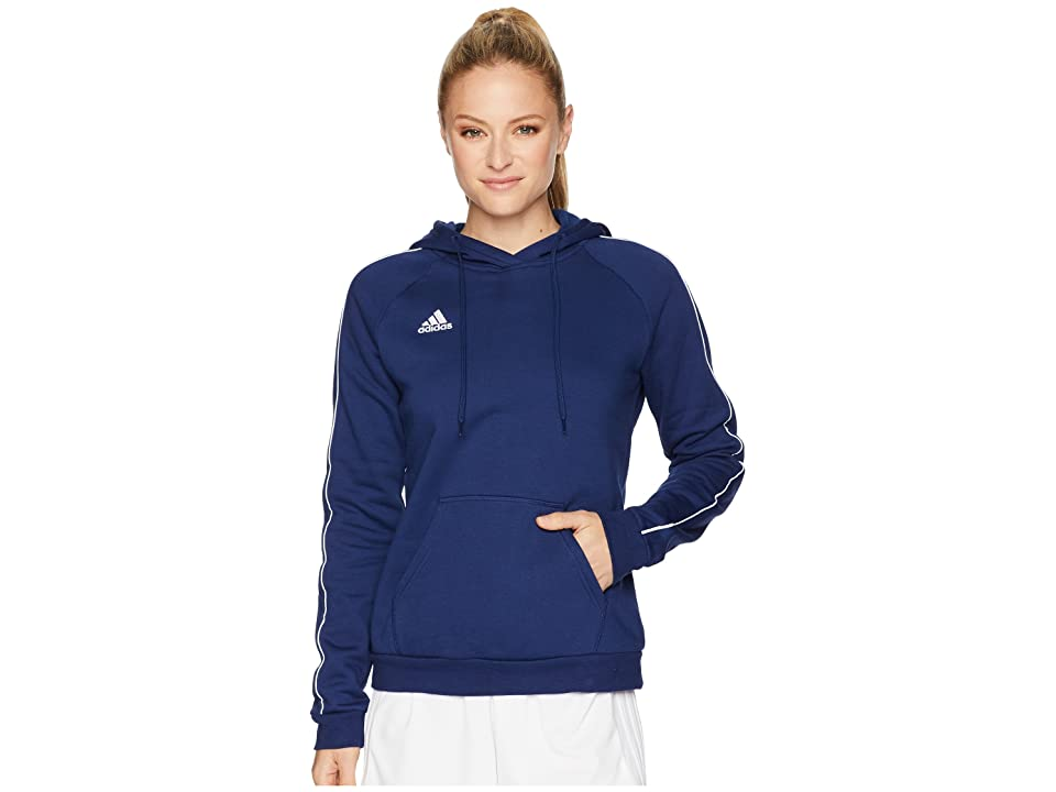 adidas Core18 Hoodie (Dark Blue/White) Women