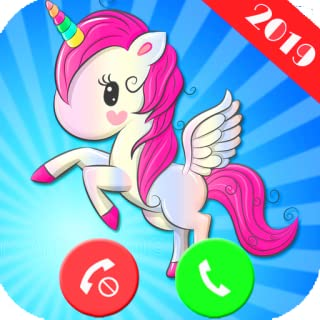 UNICORN LIVE CALL Simulation Free fake phone call and fake text message for kids - PRANK FOR KIDS 2019