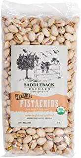 Saddleback Orchard, Organic Roasted and Salted, Inshell Pistachios, 1Lb. Bag