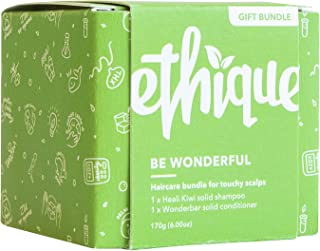 Ethique Eco-Friendly Shampoo & Conditioner Bar Bundle for Touchy Scalps - Sustainable & Natural Bars, Soap Free, pH Balanc...