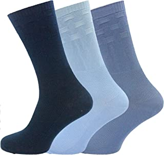 Socks Uwear Mens Cotton Rich Loose Top No Elastic Multipack Socks