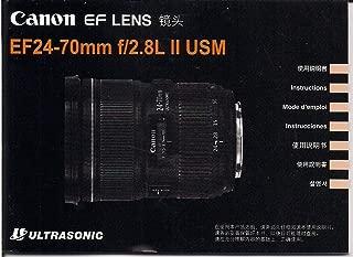 Instruction Manual Canon EF Lens 24-70mm F2.8L II USM