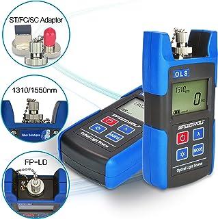 SPEEDWOLF 1310/1550 nm FTTH Fuente de luz de fibra óptica Mini herramientas de fibra óptica con SC FC ST adaptador para mantenimiento de fibra óptica (OLS622N)