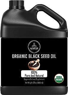 Naturevibe Botanicals Premium Organic Black Seed Oil, 32 ounces   Cold Pressed Nigella Sativa, Thymoquinone   Gluten-Free ...