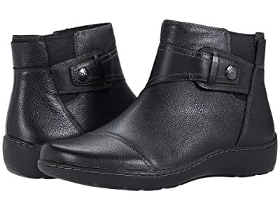 Clarks Cora Tropic (Black Leather) Women