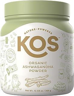 KOS Organic Ashwagandha Powder - Pure Ashwagandha Root Powder - Natural Anxiety & Stress Relief, Promotes Adrenal Health - Pure Ashwagandha - 12.84 oz.