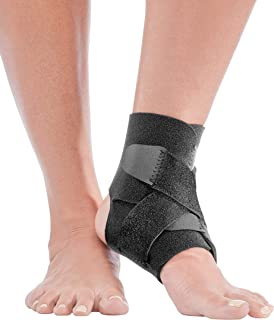 Mueller Adjustable Ankle Support, Black, One Size Fits Most
