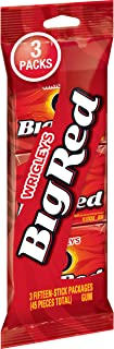 Wrigley's Big Red Cinnamon Gum, 3 Fifteen-Stick Packs (45 Pieces Total)