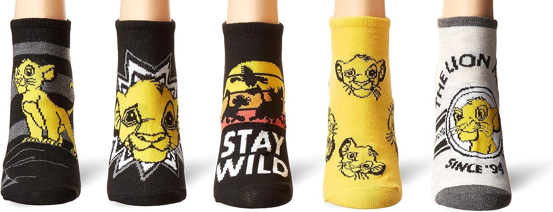 Disney Women's Lion King 5 Pack No Show Socks