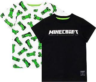 Minecraft Camiseta de Manga Corta Paquete de 2 para niños
