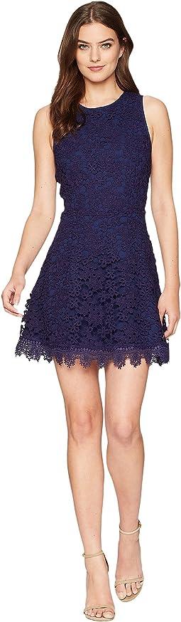 J.O.A. - Open Back Fit & Flare Dress