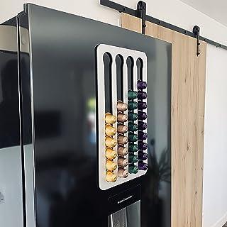 PODY® • Support, Rangement pour capsules, dosettes de Café • Aimanté • Compatible Nespresso Classique • Aluminium composit...